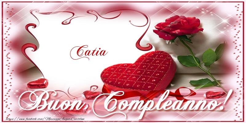 Favorito Catia Buon Compleanno! | Cartoline di compleanno con nome Catia  NQ75
