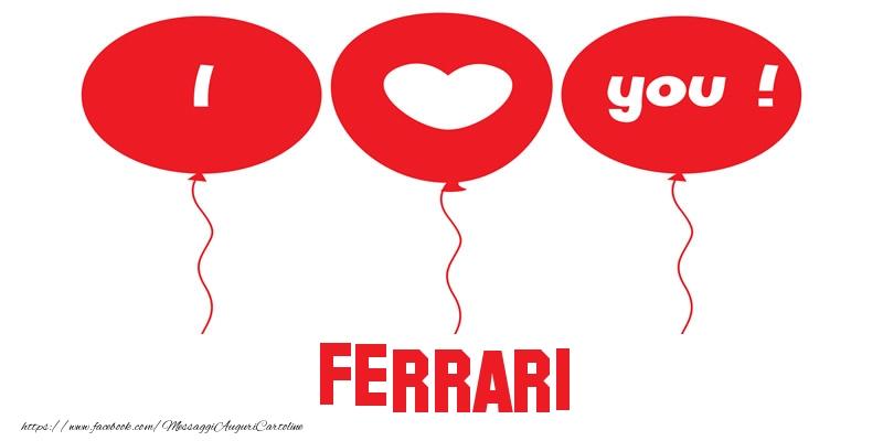 Cartoline d'amore   I love you Ferrari!