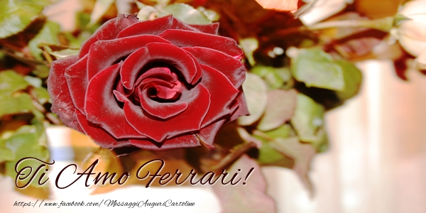 Cartoline d'amore   Ti amo Ferrari!