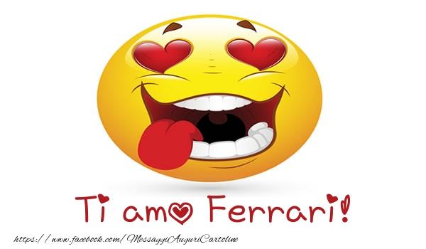 Cartoline d'amore | Ti amo Ferrari!