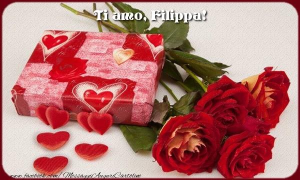 Cartoline d'amore | Ti amo, Filippa!