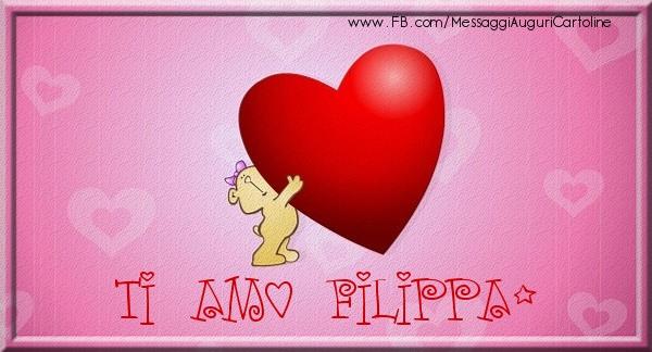 Cartoline d'amore | Ti amo Filippa