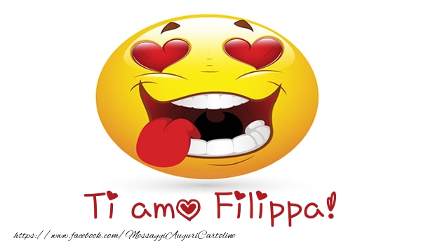 Cartoline d'amore | Ti amo Filippa!