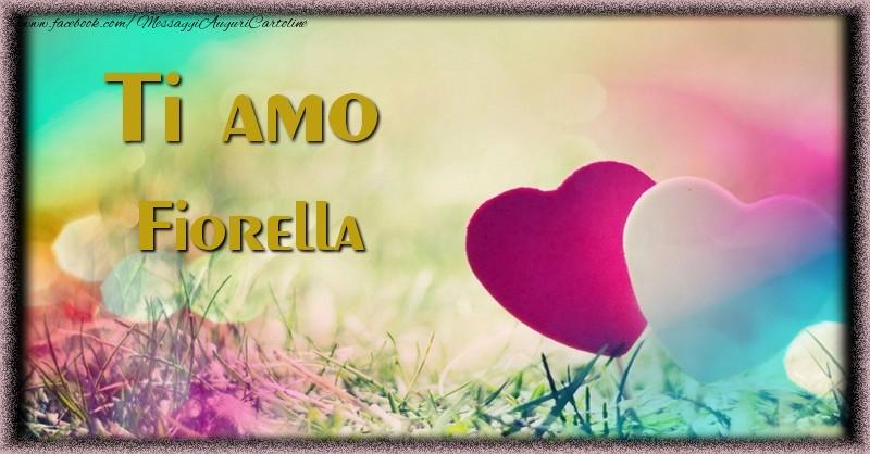 Cartoline d'amore | Ti amo Fiorella