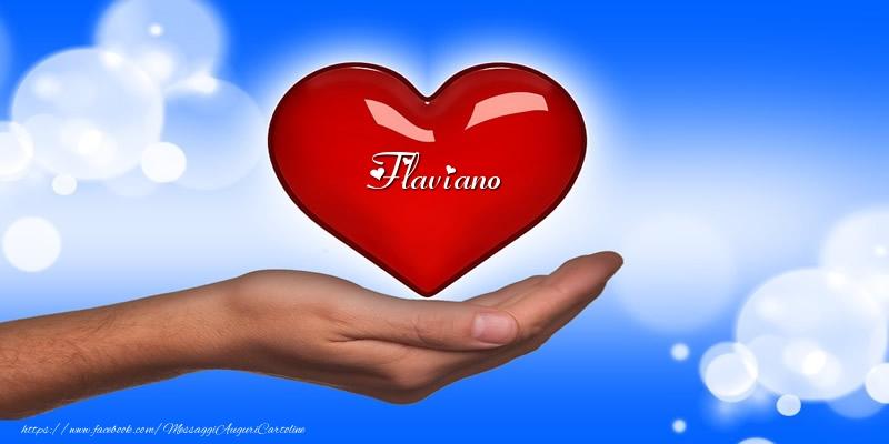 Cartoline d'amore   Nome nel cuore Flaviano