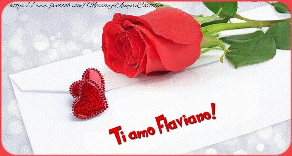 Cartoline d'amore | Ti amo  Flaviano!
