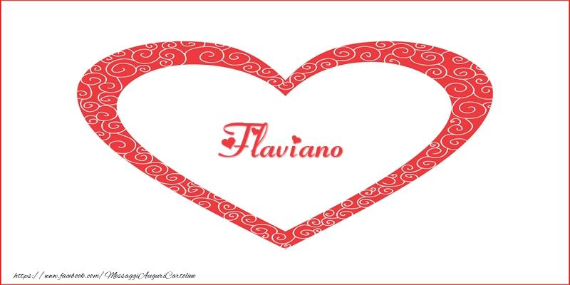 Cartoline d'amore | Flaviano | Nome nel Cuore