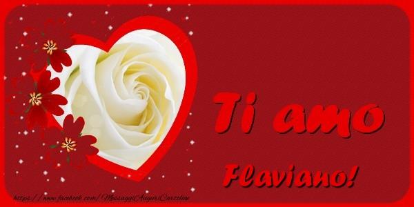 Cartoline d'amore | Ti amo Flaviano