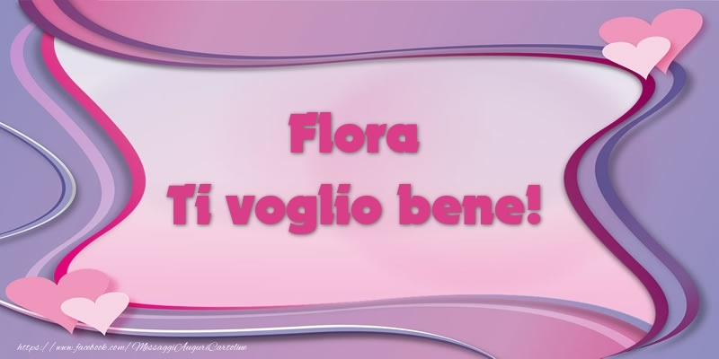 Cartoline d'amore | Flora Ti voglio bene!