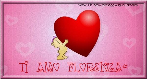 Cartoline d'amore | Ti amo Florenza