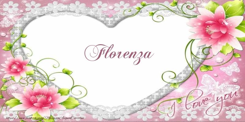 Cartoline d'amore | Florenza I love you