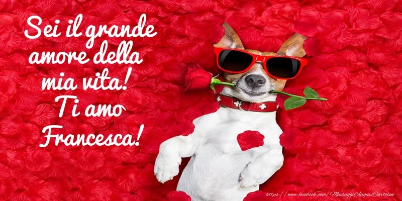 Cartoline d'amore   Sei il grande amore della mia vita! Ti amo Francesca!