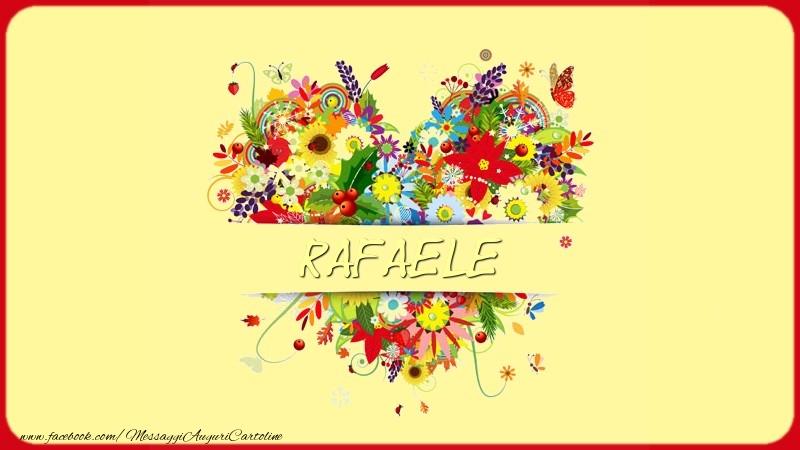 Cartoline d'amore | Nome nel cuore Rafaele