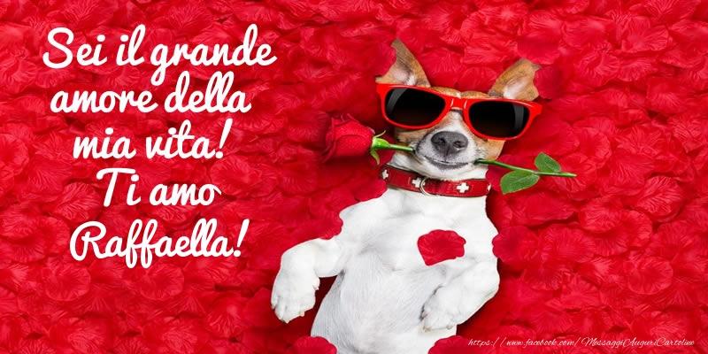 Cartoline d'amore | Sei il grande amore della mia vita! Ti amo Raffaella!