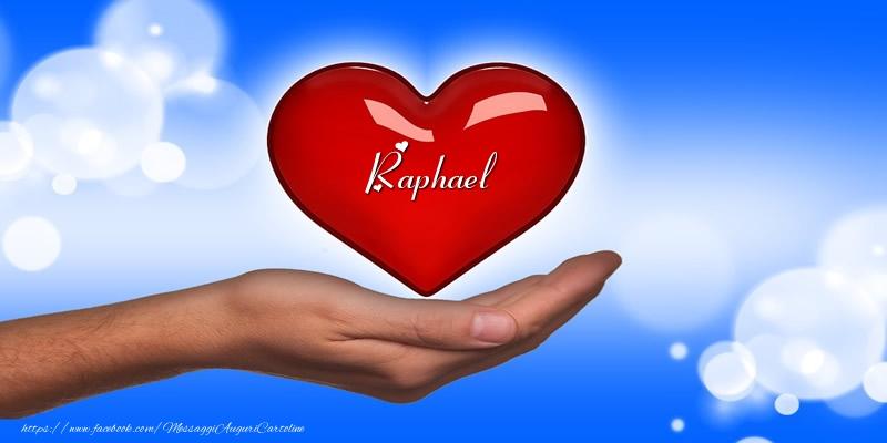 Cartoline d'amore   Nome nel cuore Raphael