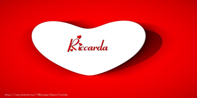 Cartoline d'amore | Riccarda nel cuore