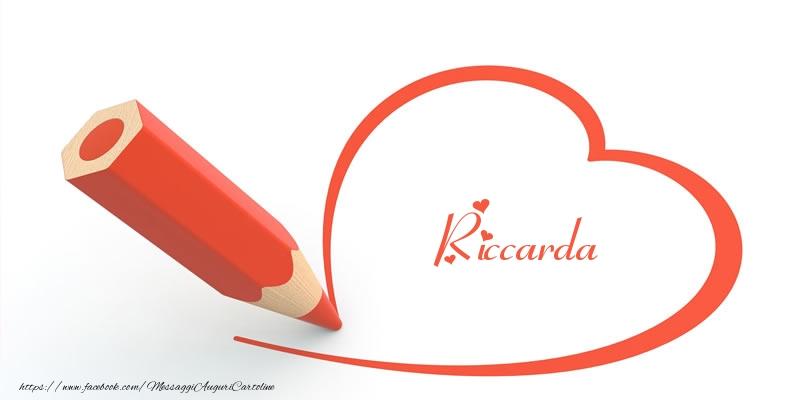 Cartoline d'amore | Cuore per Riccarda!