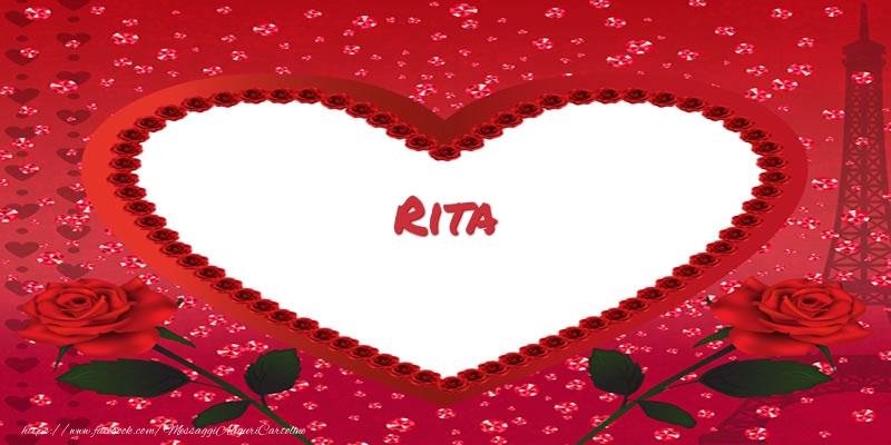 Cartoline d'amore | Nome nel cuore Rita
