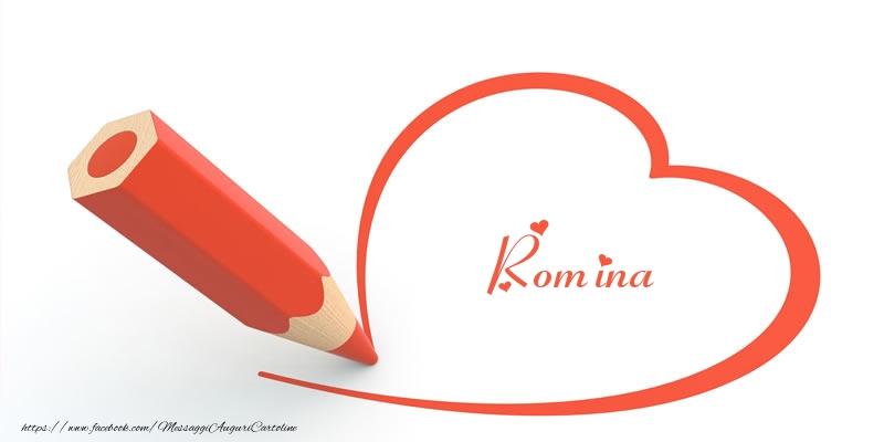 Cartoline d'amore   Cuore per Romina!