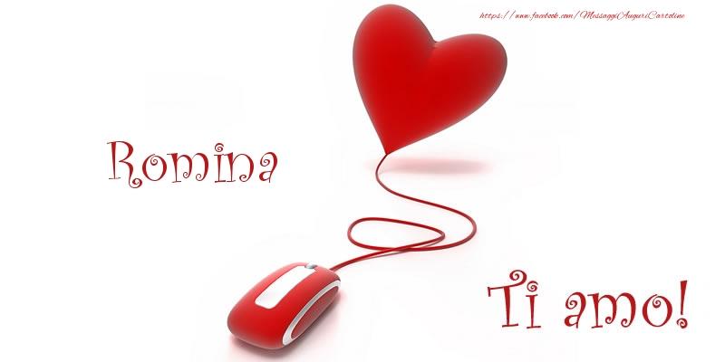Cartoline d'amore   Romina Ti amo!