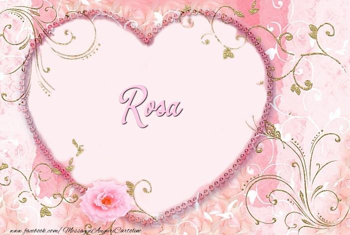 Cartoline d'amore | Rosa