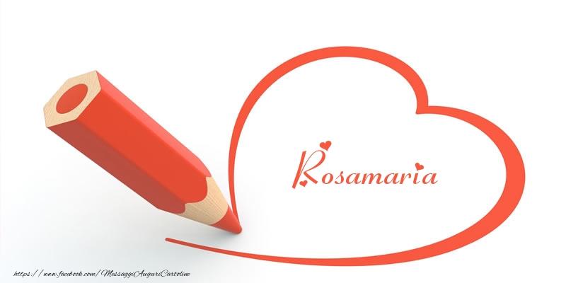 Cartoline d'amore   Cuore per Rosamaria!