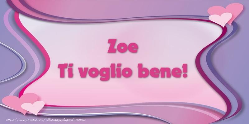 Cartoline d'amore   Zoe Ti voglio bene!