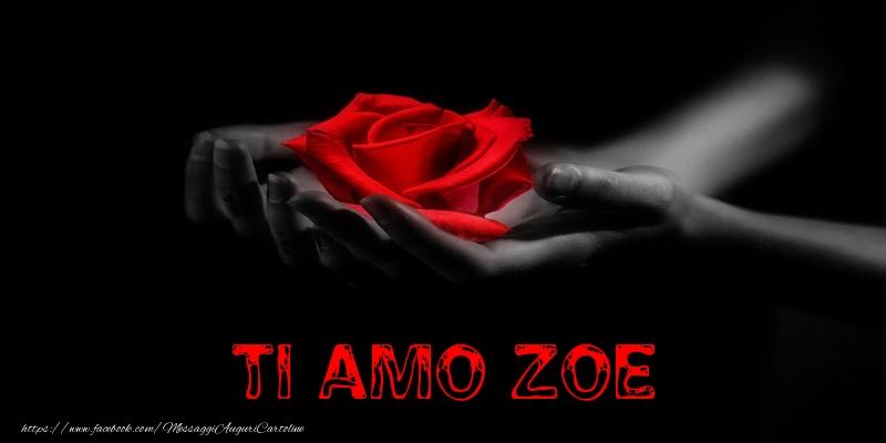 Cartoline d'amore   Ti Amo Zoe