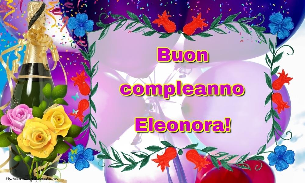 spesso Buon Compleanno Eleonora - Buono Compelanno Collection Immagini JB77