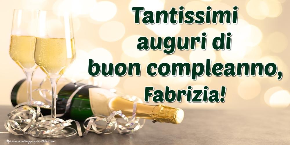 Cartoline di auguri | Tantissimi auguri di buon compleanno, Fabrizia!