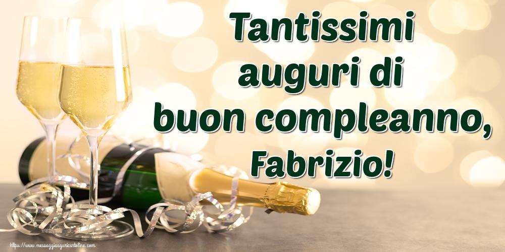 Cartoline di auguri | Tantissimi auguri di buon compleanno, Fabrizio!