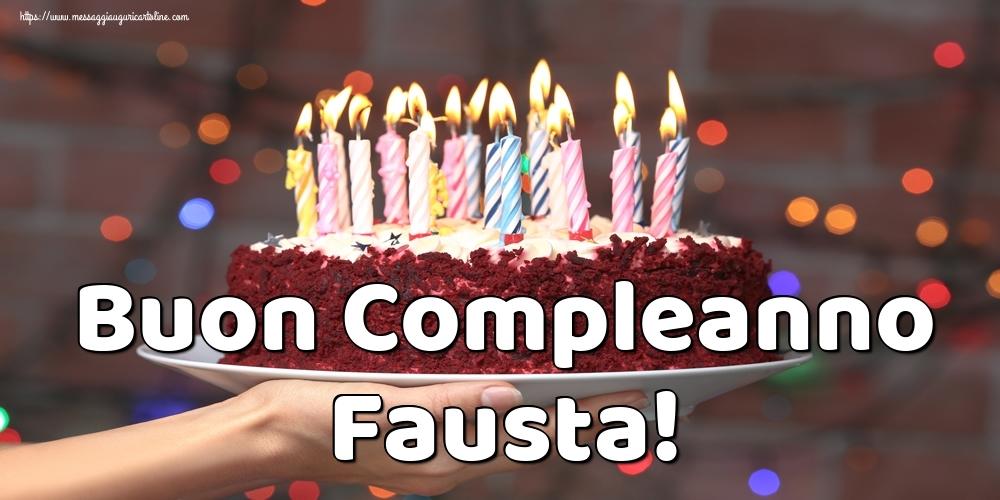 Cartoline di auguri | Buon Compleanno Fausta!