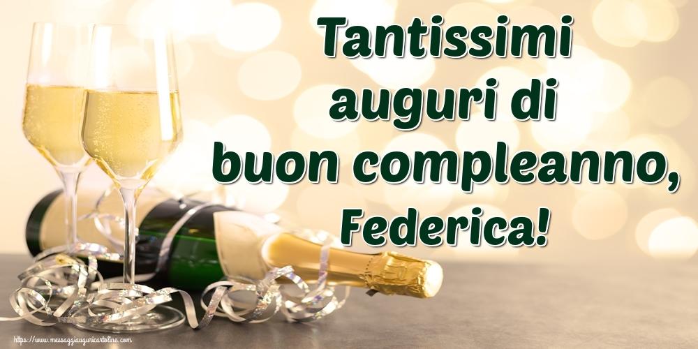 Cartoline di auguri | Tantissimi auguri di buon compleanno, Federica!