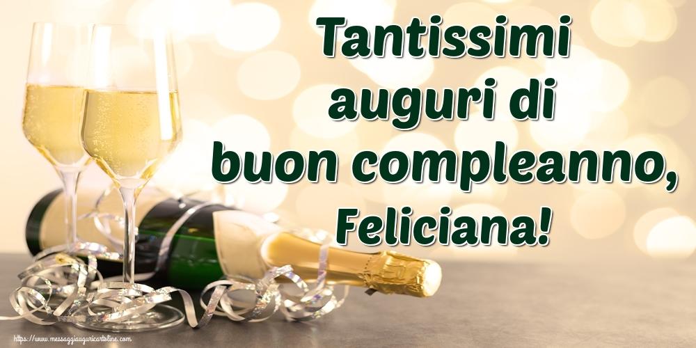 Cartoline di auguri | Tantissimi auguri di buon compleanno, Feliciana!
