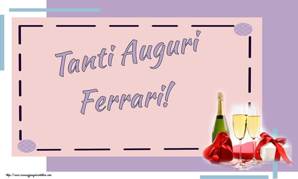 Cartoline di auguri   Tanti Auguri Ferrari!