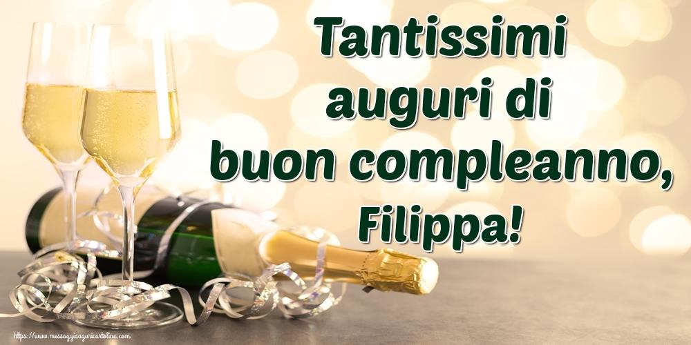 Cartoline di auguri | Tantissimi auguri di buon compleanno, Filippa!