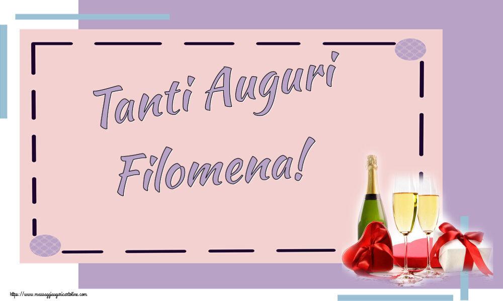 Cartoline di auguri | Tanti Auguri Filomena!