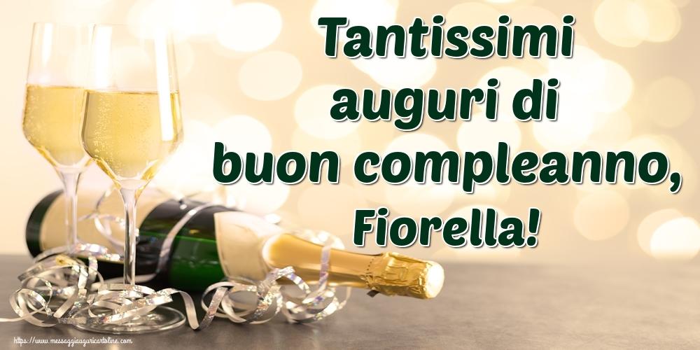 Cartoline di auguri | Tantissimi auguri di buon compleanno, Fiorella!