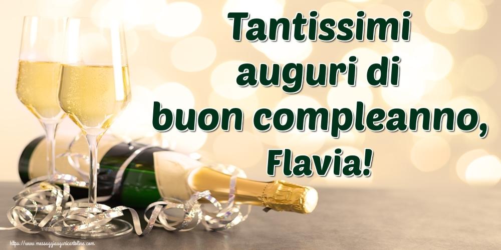 Cartoline di auguri | Tantissimi auguri di buon compleanno, Flavia!