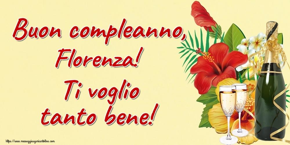 Cartoline di auguri | Buon compleanno, Florenza! Ti voglio tanto bene!