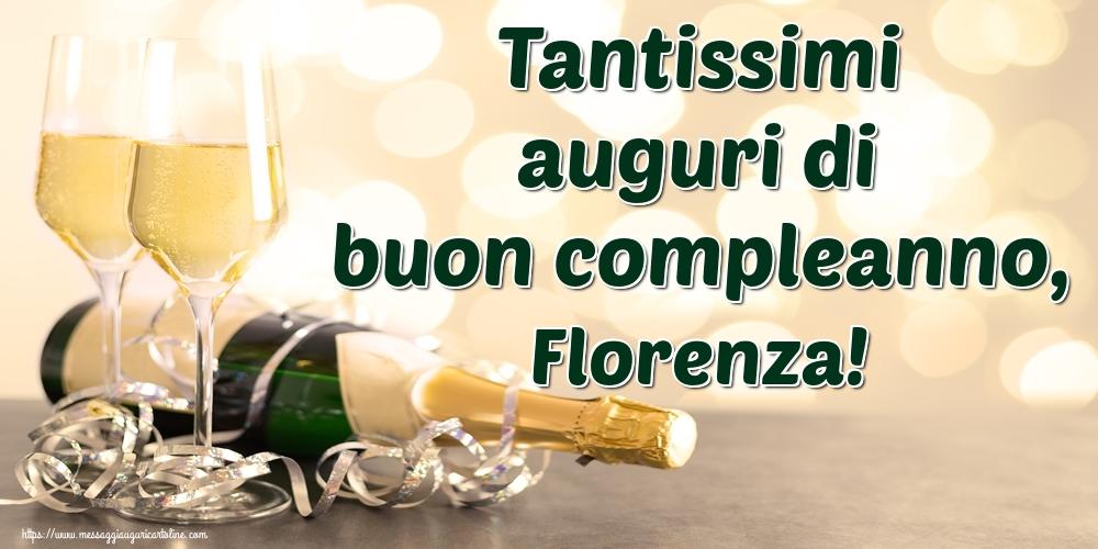 Cartoline di auguri | Tantissimi auguri di buon compleanno, Florenza!