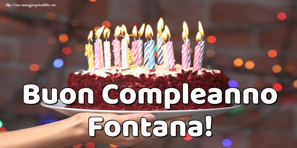 Cartoline di auguri   Buon Compleanno Fontana!