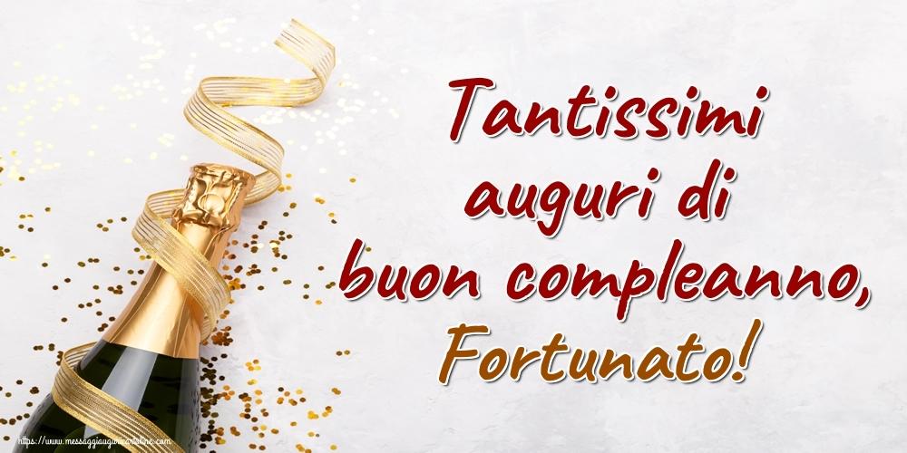 Cartoline di auguri | Tantissimi auguri di buon compleanno, Fortunato!