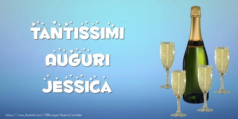 Cartoline di auguri   Tantissimi Auguri Jessica champagne