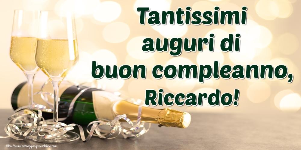 Cartoline di auguri   Tantissimi auguri di buon compleanno, Riccardo!