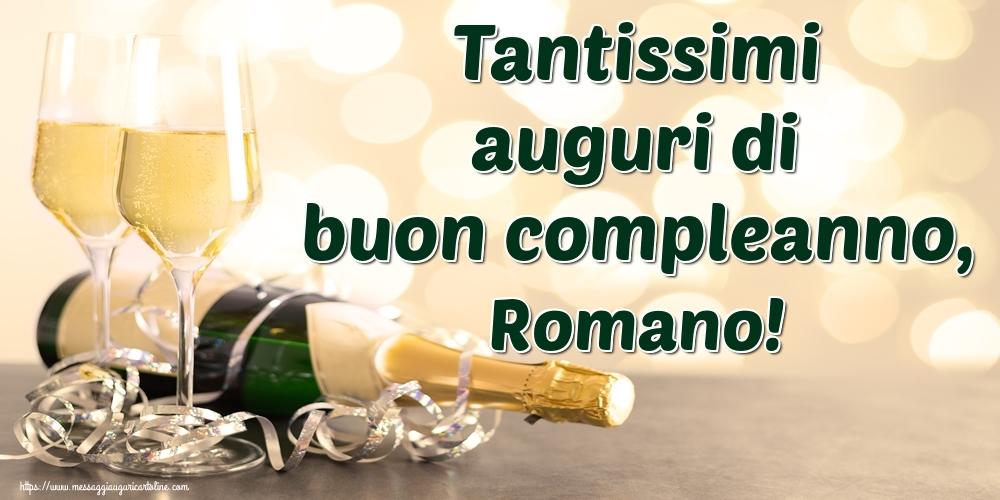 Cartoline di auguri   Tantissimi auguri di buon compleanno, Romano!