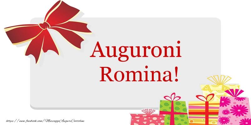 Cartoline di auguri   Auguroni Romina!