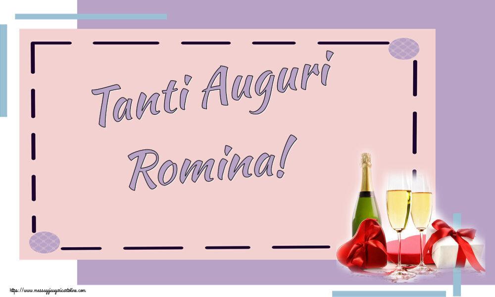 Cartoline di auguri   Tanti Auguri Romina!