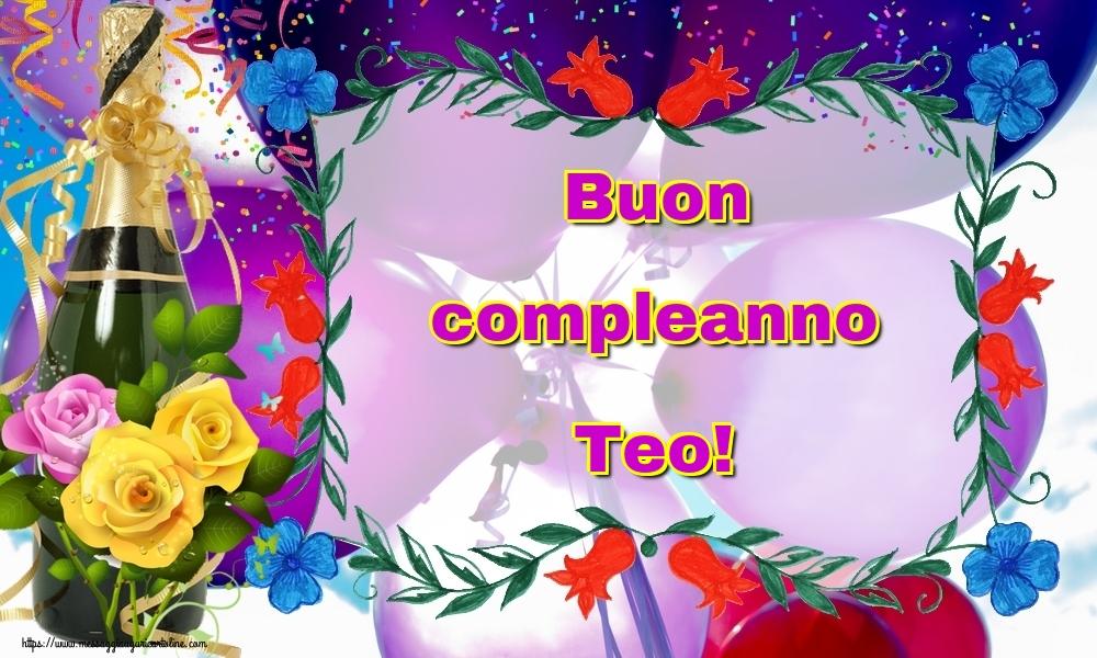 Cartoline di auguri   Buon compleanno Teo!