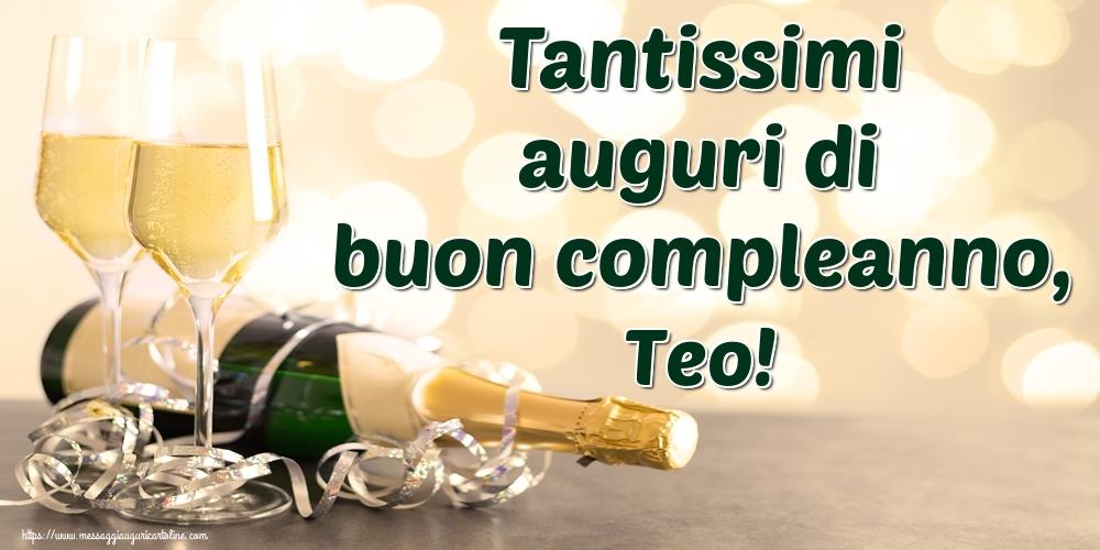 Cartoline di auguri   Tantissimi auguri di buon compleanno, Teo!